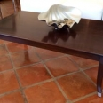 Coffee Table With Black Inlay