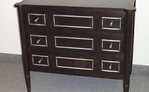 Ebonized Dresser With Silver Leaf