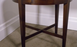 Transitional Side Table With Cross-Stretchers