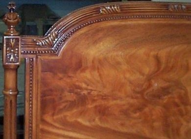 Custom carved  headboard