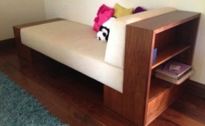 Chaise with Bookcase end