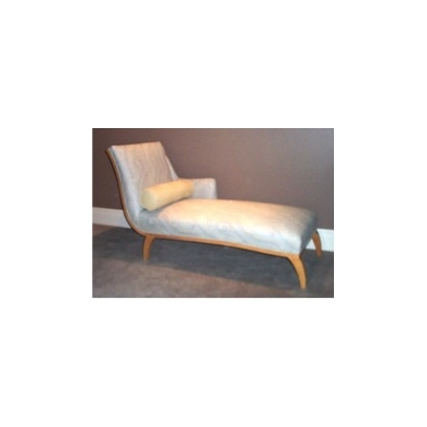 Custom Chaise With Show Wood Base