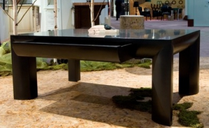Coffee Table with Waterfall Apron