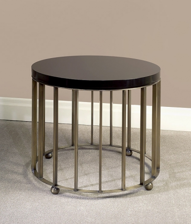 End Table Brass and Walnut