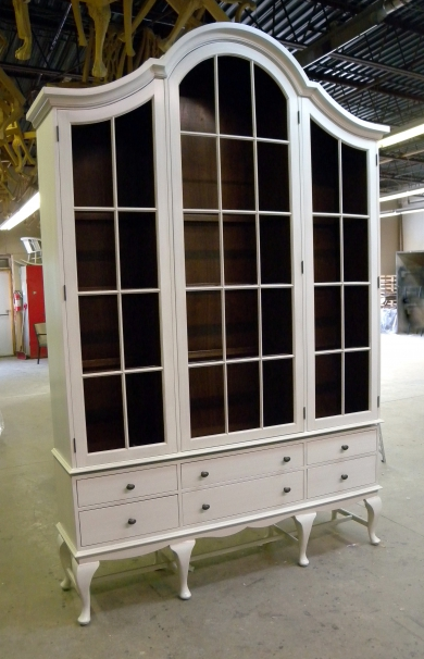 Contemporary Queen Anne China Cabinet