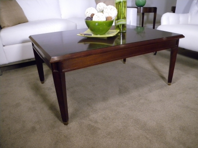 Walnut and Maccassa Coffee Table